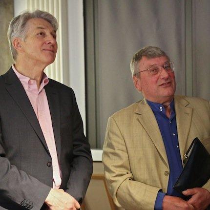 Reinhard G. Wittmann und Volker Michels  Foto: Katrin Moritz
