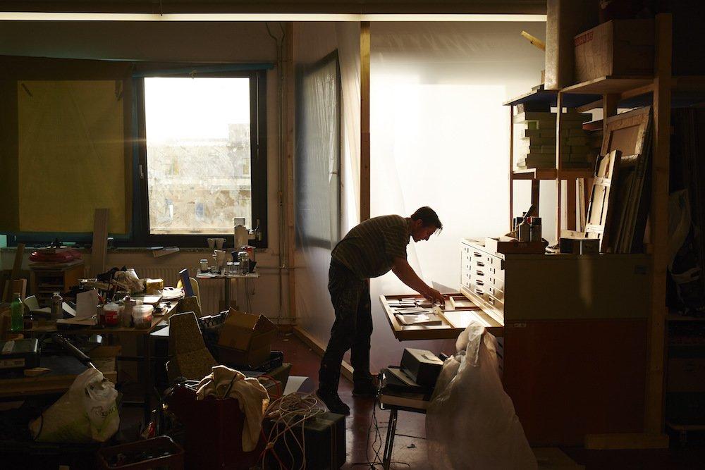 Johannes Tassilo Walter, Atelier in der PLATFORM, 2015, conny mirbach (14)