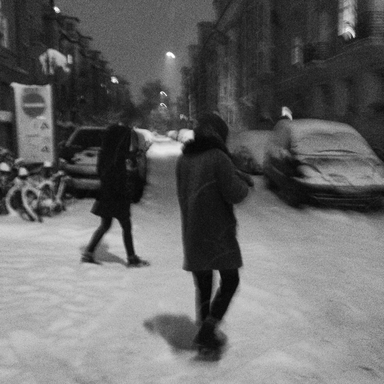 Schnee in Schwabing