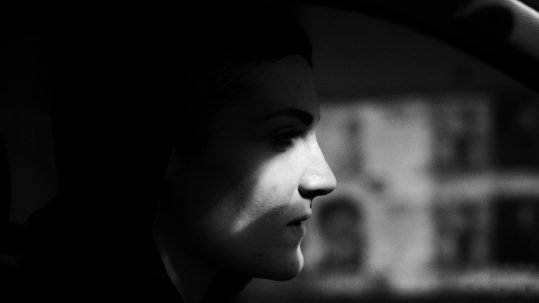 Stefania, one of Samin's closest friends driving us home late in the night. She helped Samin out in multiple situations