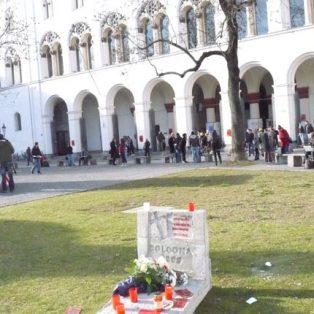 Klein und kreativ: Demo an der Uni
