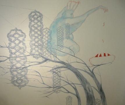 Wandmalerei von Motoko Dobashi und Erkin Gören