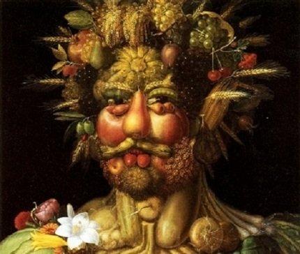 Mensch - Ernährung - Konsum, was heute von so politischer Bedeutung ist, war für den Künstler Acrimboldo wohl eher Nebensache