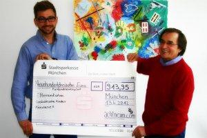 Leser von achtneun.com spenden 913,95 Euro für Elterninitiative Krebskranke Kinder München e.V.