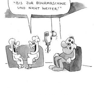 Böse Cartoons im Isartor