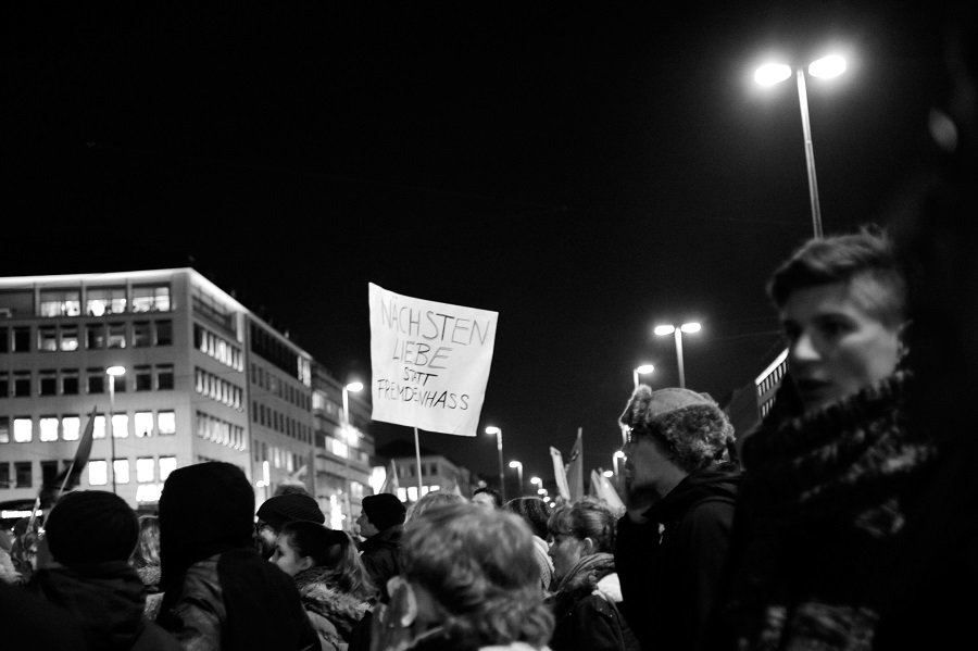 Demo Nächstenliebe statt Fremdenhass