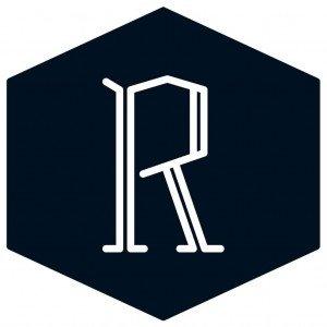 Mucbook: Logo Restaurant Day, weißes R auf schwarzem Hintergrund