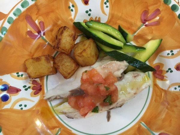 Mucbook: Popup Restaurant RiminiRimini im Eataly, Fisch und Kartoffeln