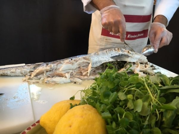 Mucbook: Popup Restaurant RiminiRimini im Eataly, filetierter Fisch
