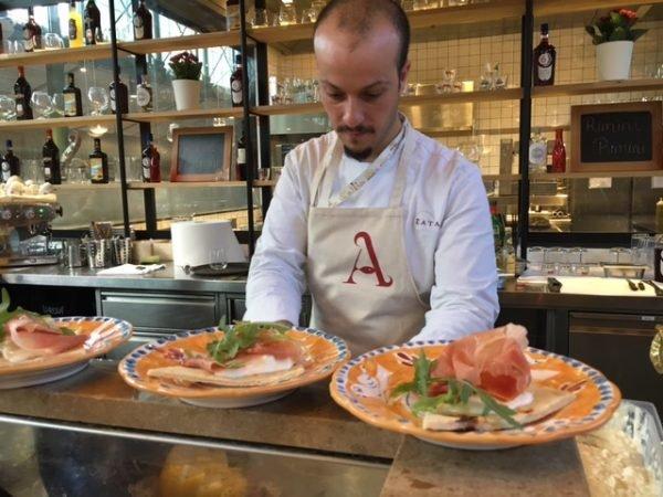 Mucbook: Popup Restaurant RiminiRimini im Eataly, Piadine