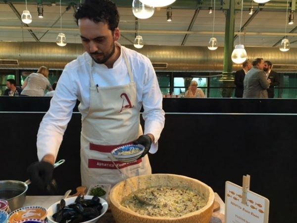 Mucbook: Popup Restaurant RiminiRimini im Eataly, Meeresfrüchte-Risotto