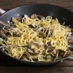 Spaghetti Vongole mit Petersilien-Pesto