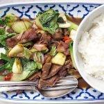 Asiatisches Rind mit Pak-Choi und Chili