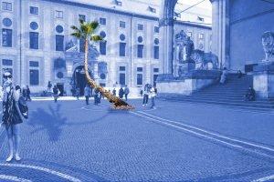 Susi Gelb Palme Odeonsplatz Lenbachplatz