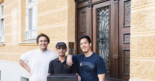 Pascal Tran (re.) und seine Kollegen