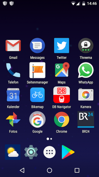 Bause Homescreen