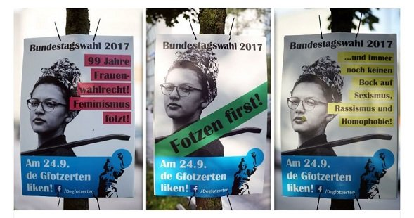 Degfotzerten Wahlplakate