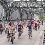Fahrradparade auf dem Mittleren Ring