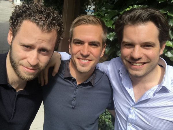 Selfie Philipp Lahm, Fabian Schmidt & Alan Sternberg Colour July 2017