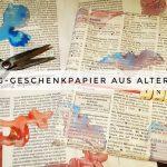 Upcycling-Geschenkpapier aus alter Zeitung