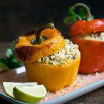 Am Wochenende wird gekocht: Gefüllte Paprika mit Couscous und Rosinen
