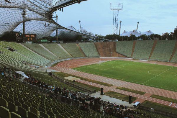 DDR, BRD, Fußball, PAM, Olympiastadion.