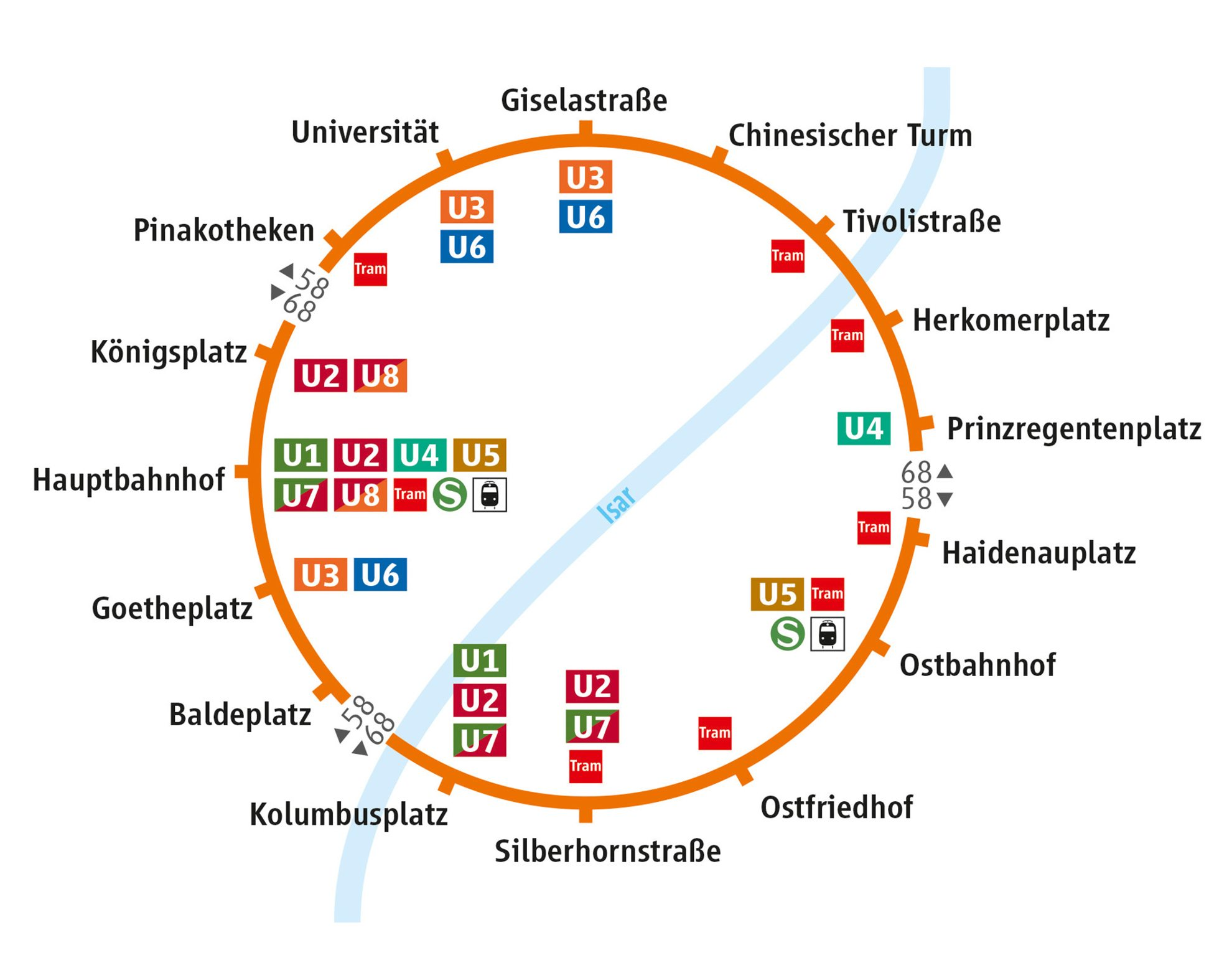 Der MVG-Cityring, die neue Ringbuslinie in München. © MVG