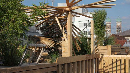 Der Dachgarten auf dem Parkhaus am Stachus, Foto: Max Büch