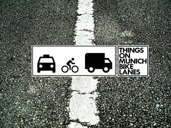 all the things on munich bike lanes