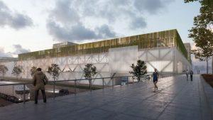 Visualisierung der neuen Grossmarkthalle in Muenchen