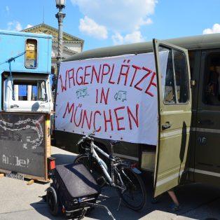 Die Münchner Wagendörfer suchen verzweifelt Standplätze