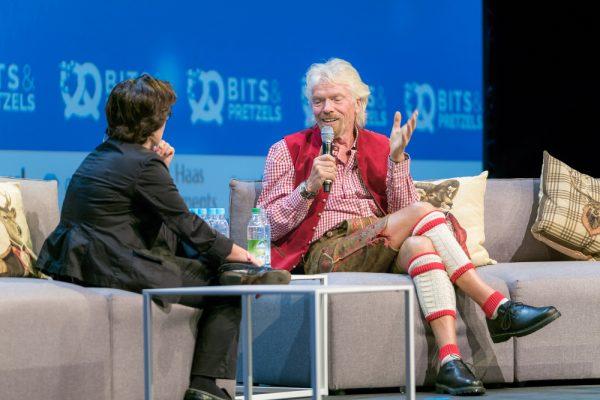 Ricard Branson bei der Bita&Pretzels