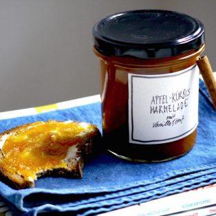 Apfel-Kürbis Marmelade mit Vanille & Zimt