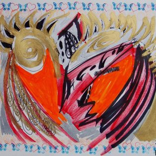 Kunst im Feierwerk Farbenladen: Ausstellung HEADS von Zdenek Kotala