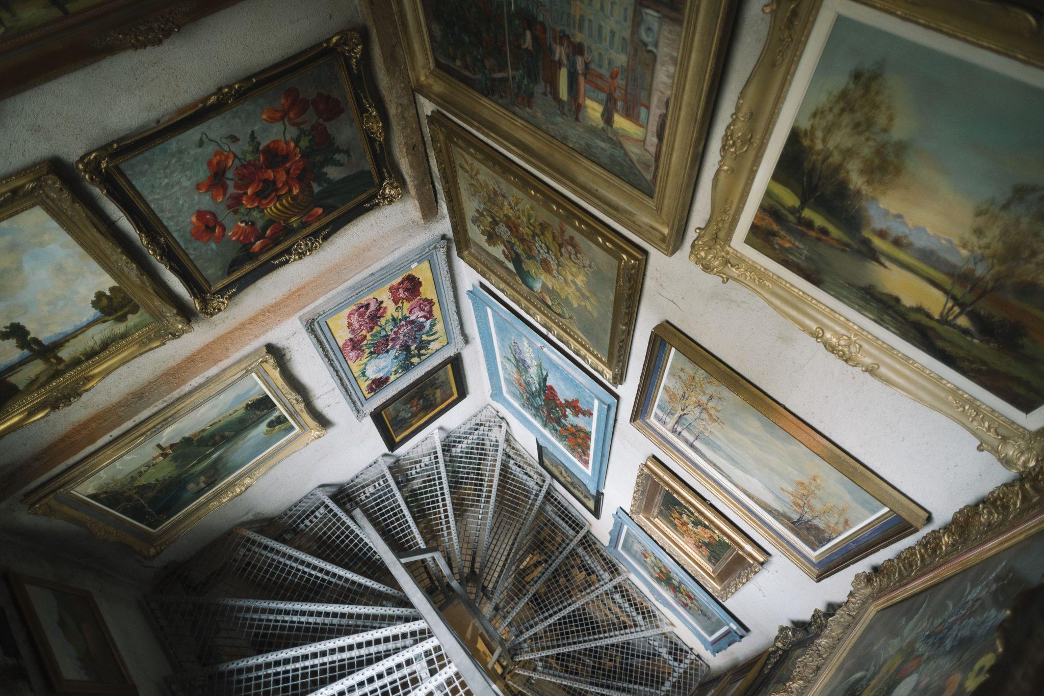Treppe runter in die Kunstoase