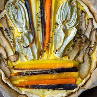 Polenta-Tarte mit Ofengemüse