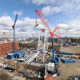 Über den Dächern der Stadt: Bald eröffnet das Hi-Sky-Riesenrad im Werksviertel