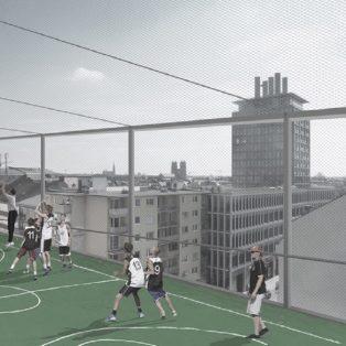 Auf den Dächern des Glockenbachs Fußball spielen? Bellevue di Monaco will das möglich machen