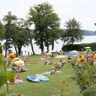 Bio-Strandbad Pilsensee: Veganes Würstchen am Badesee