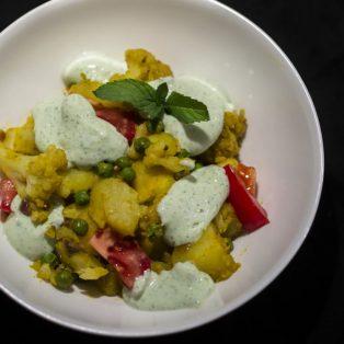 Kartoffelsalat auf Indisch