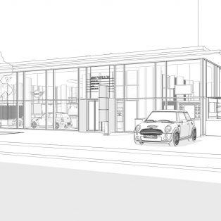 Der MINI Pavillon zieht in die Neue Maxburg ein