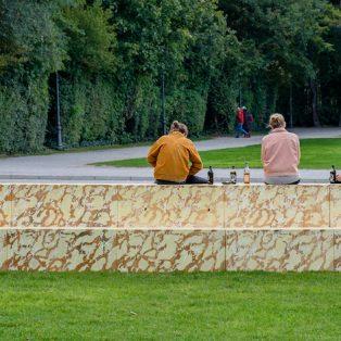 Glyptotheke: Die neue Stufen-Installation am Königsplatz