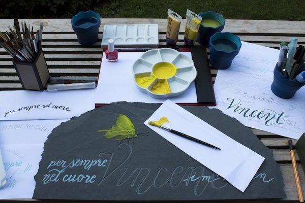 Kunst, malen, zeichnen, Handlettering
