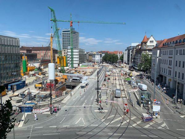 Ausblick auf den Hauptbahnhof aus dem MUCBOOK Breakout