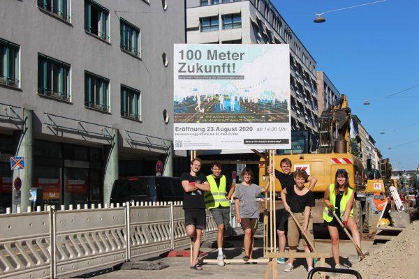 Die Mitglieder des Referats auf der Schwanthaler Straße: Linus Schulte, Markus Westerholt, Magdalena Schmidkunz, Maximilian Steverding, Michelle Hagenauer und Annika Hetzel.