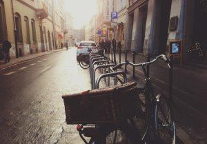 Straße, Fahrrad, Parkplätze