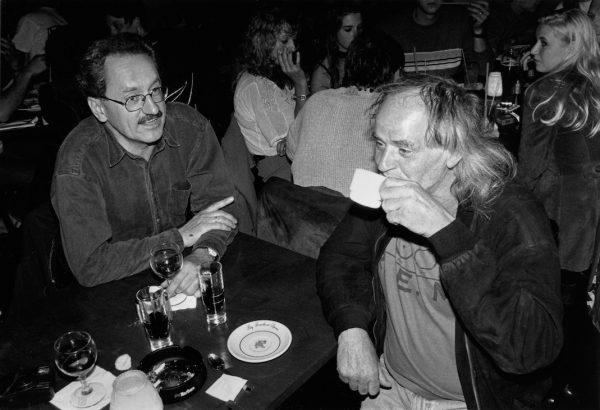 Wolfgang Nöth (r.) und Christian Ude, Alt OB, 2001 im Nachtcafé des Kunstpark Ost. © Volker Derlath
