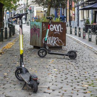 Parkplätze für E-Scooter in der Innenstadt – Freiheit ade?