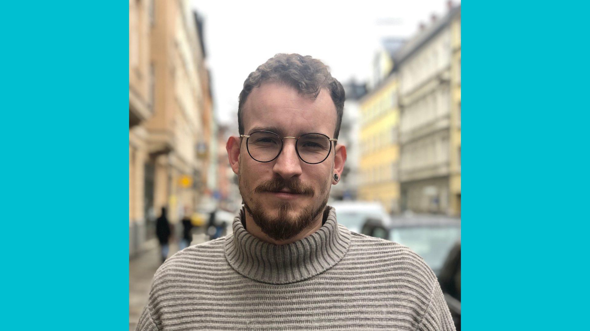 Portrait von Linus Schulte vom Referat für Stadtverbesserung in München