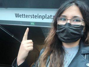 Der Eingang zu U-Bahnstation Wettersteinplatz